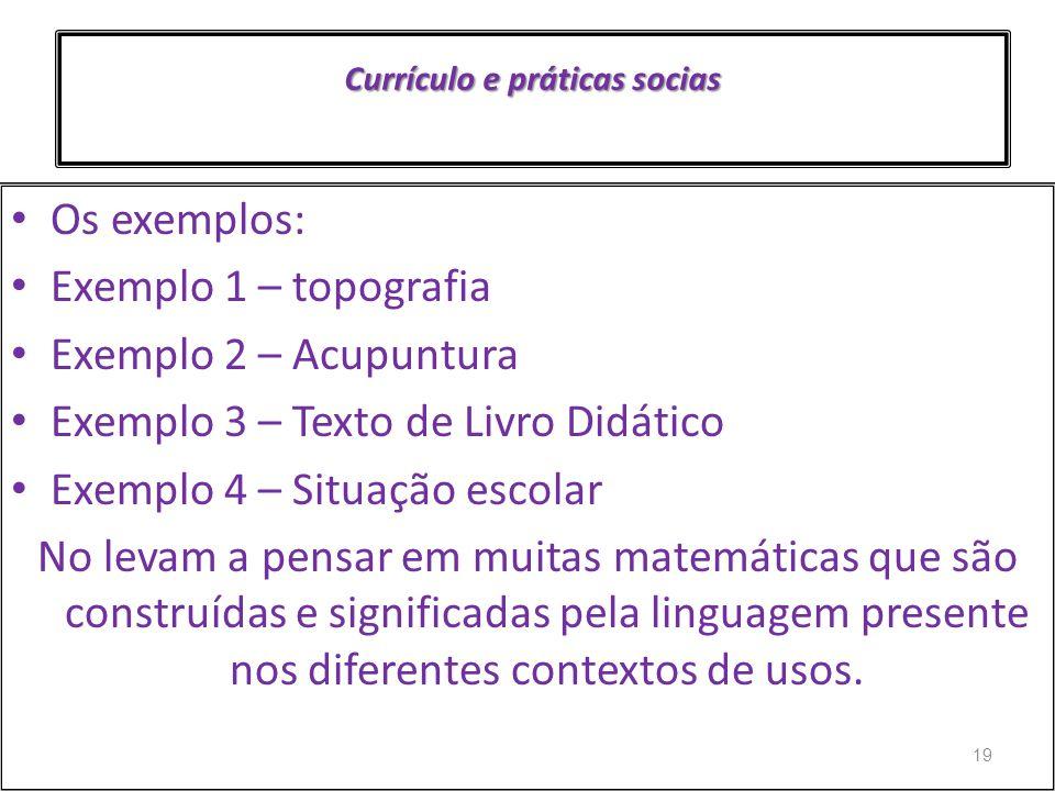 Currículo e práticas socias