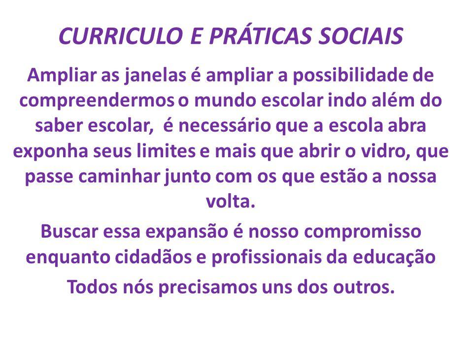 CURRICULO E PRÁTICAS SOCIAIS