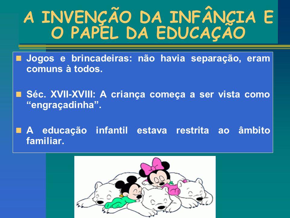 A INVENÇÃO DA INFÂNCIA E O PAPEL DA EDUCAÇÃO