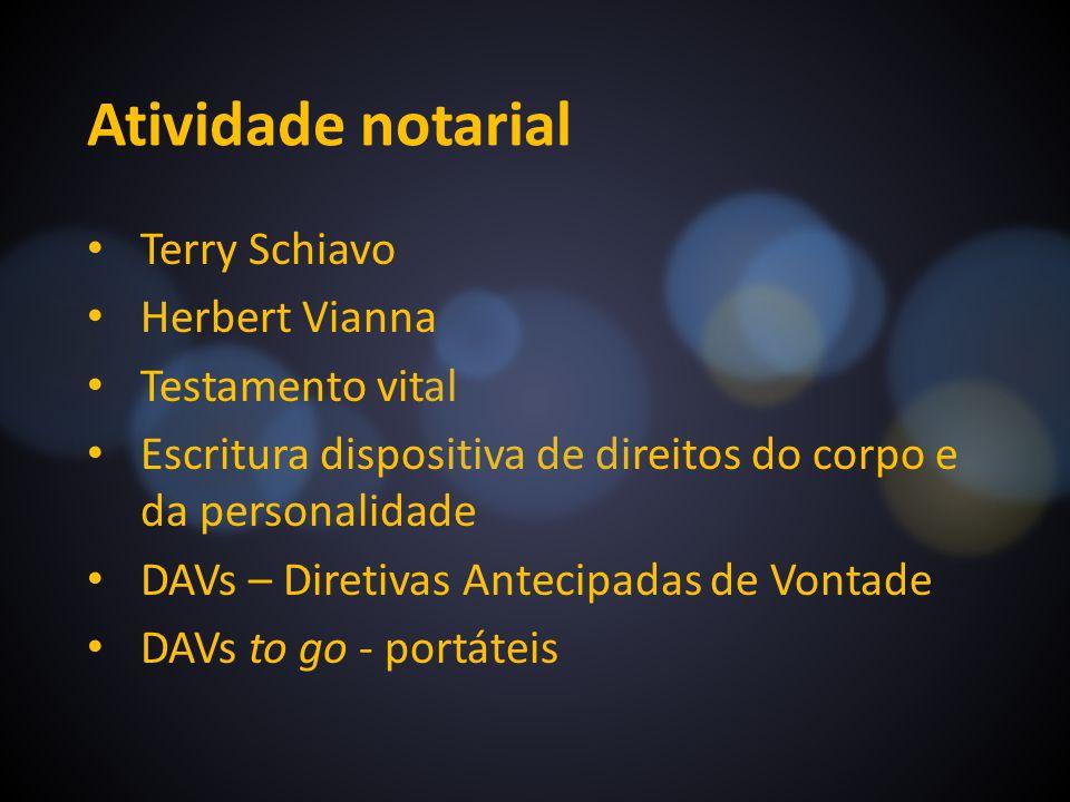 Atividade notarial Terry Schiavo Herbert Vianna Testamento vital