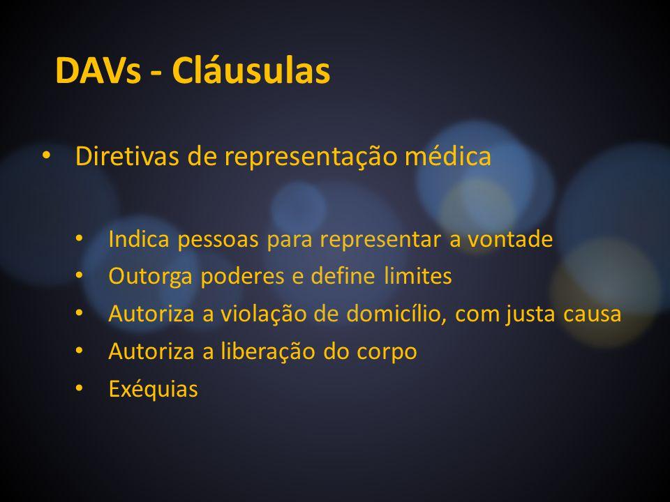 DAVs - Cláusulas Diretivas de representação médica
