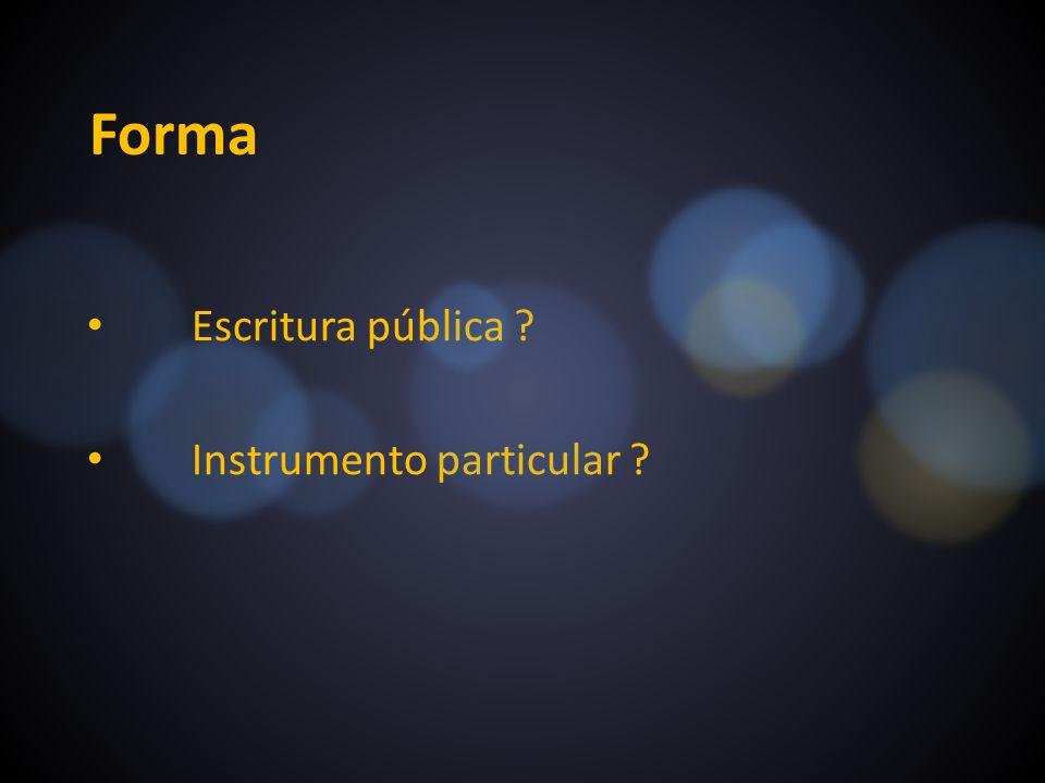 Escritura pública Instrumento particular