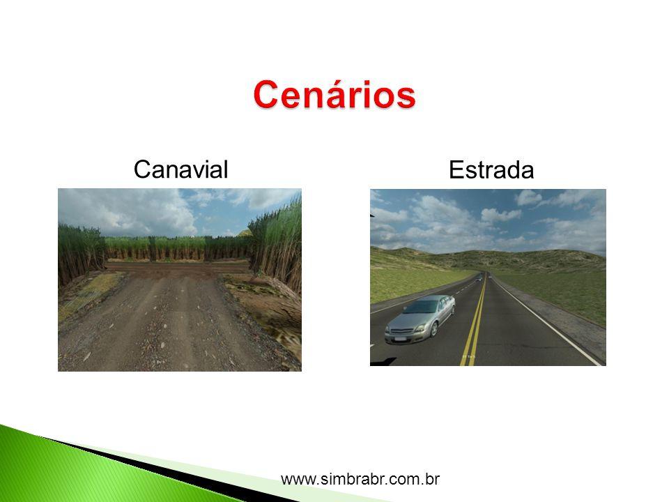 Cenários Canavial Estrada www.simbrabr.com.br