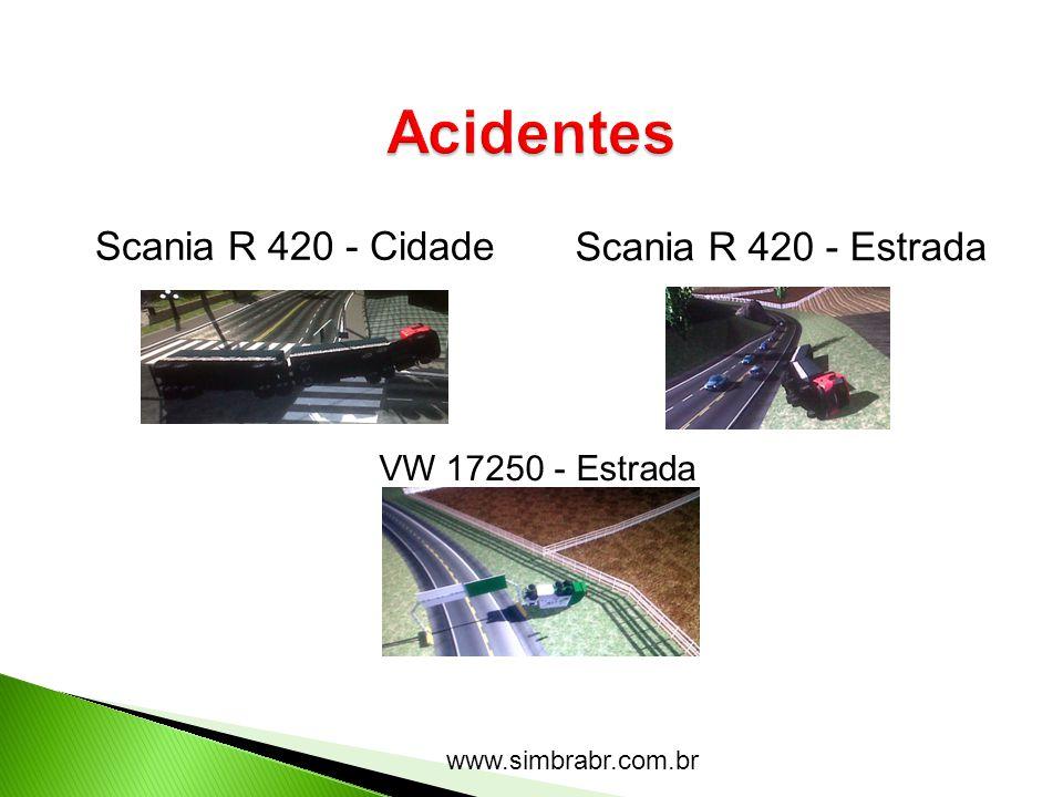 Acidentes Scania R 420 - Cidade Scania R 420 - Estrada