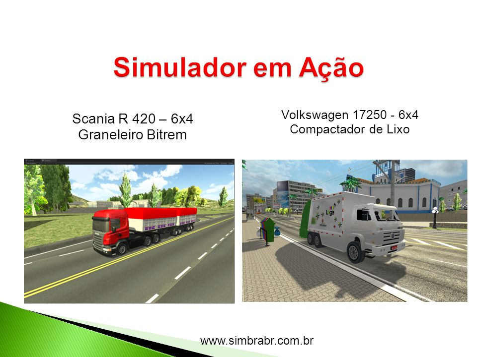 Simulador em Ação Scania R 420 – 6x4 Graneleiro Bitrem