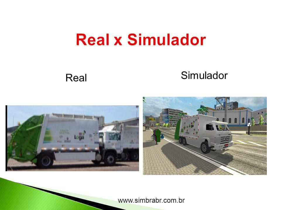 Real x Simulador Simulador Real www.simbrabr.com.br