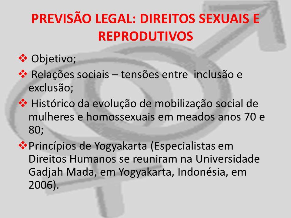PREVISÃO LEGAL: DIREITOS SEXUAIS E REPRODUTIVOS