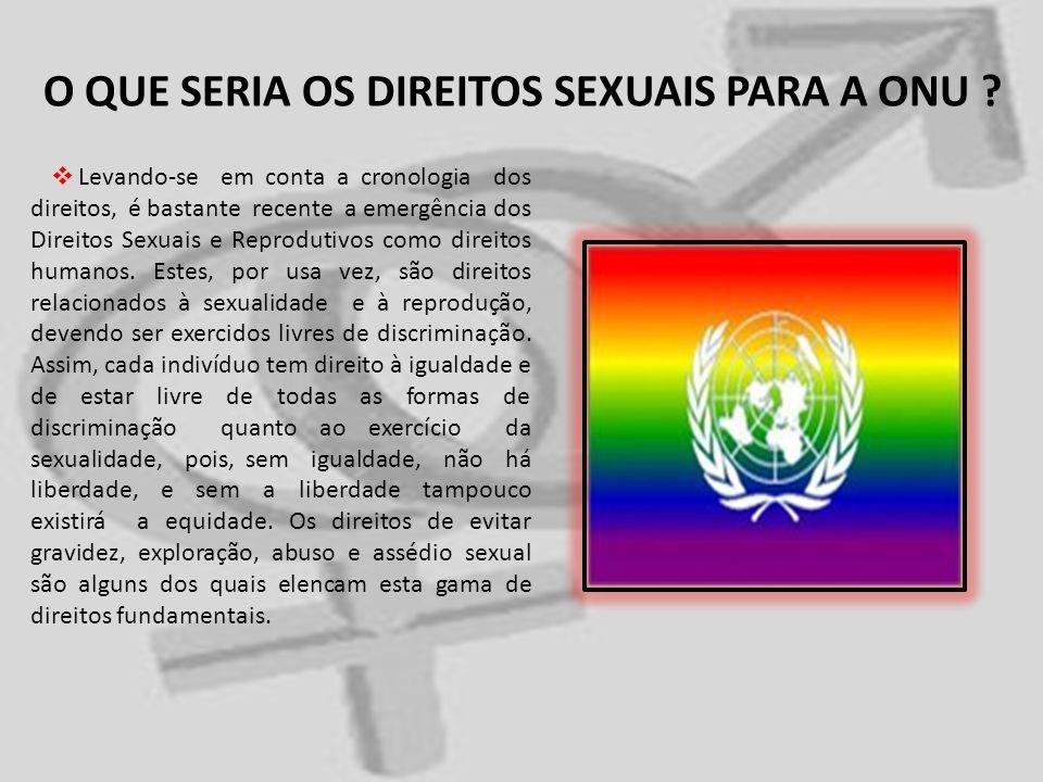 O QUE SERIA OS DIREITOS SEXUAIS PARA A ONU