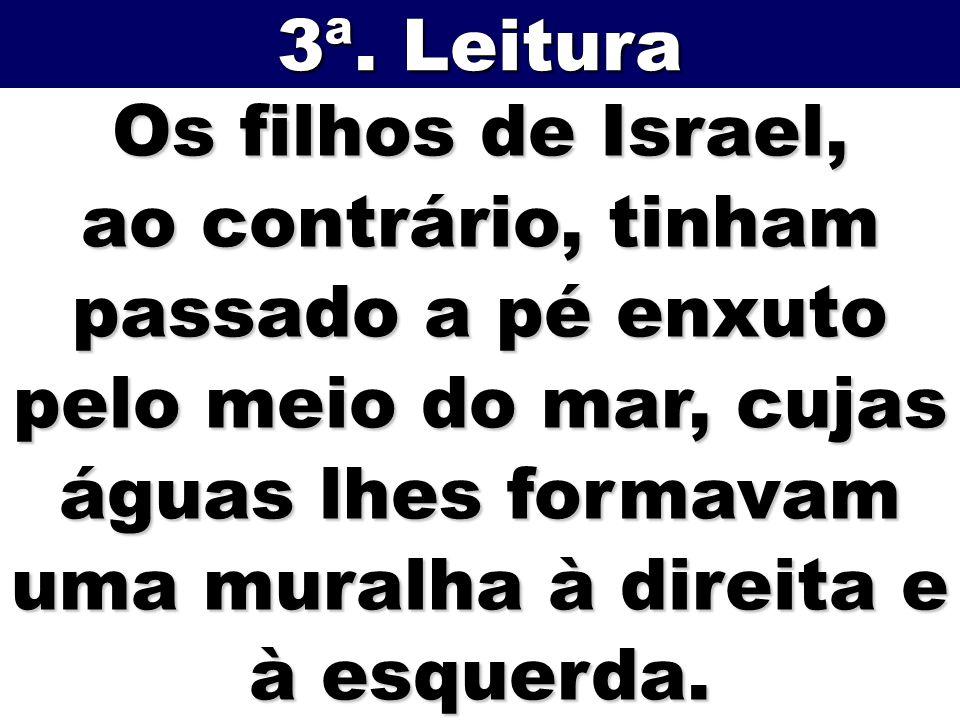 3ª. Leitura Os filhos de Israel,