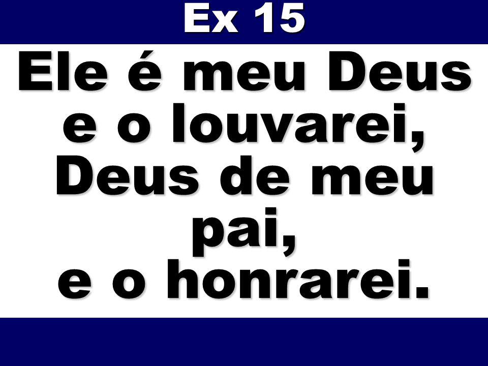 Ele é meu Deus e o louvarei, Deus de meu pai, e o honrarei.