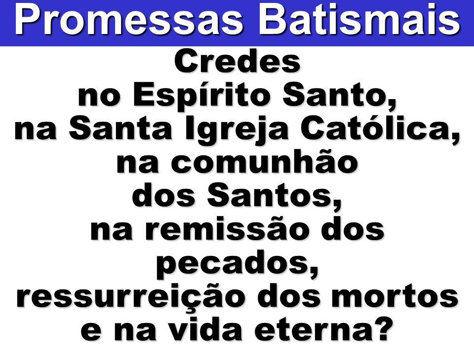 Promessas Batismais Credes no Espírito Santo,