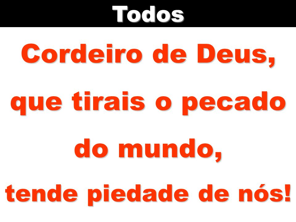 Cordeiro de Deus, que tirais o pecado do mundo, tende piedade de nós!