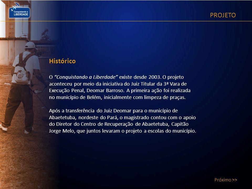 PROJETO Próximo >> Histórico.