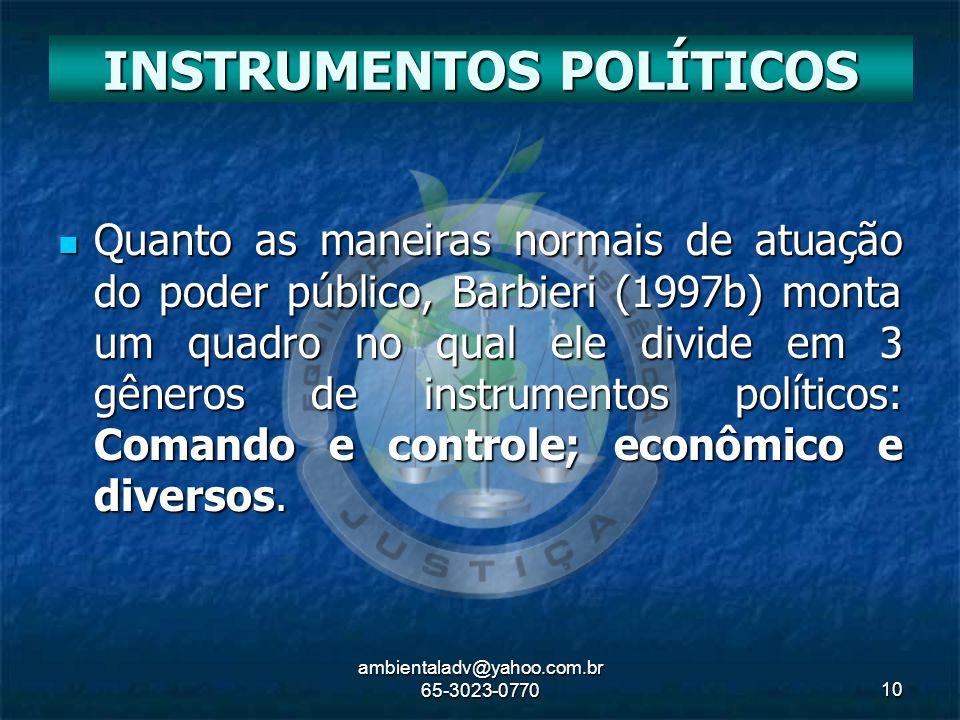 INSTRUMENTOS POLÍTICOS