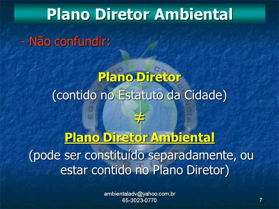 Plano Diretor Ambiental Plano Diretor Ambiental