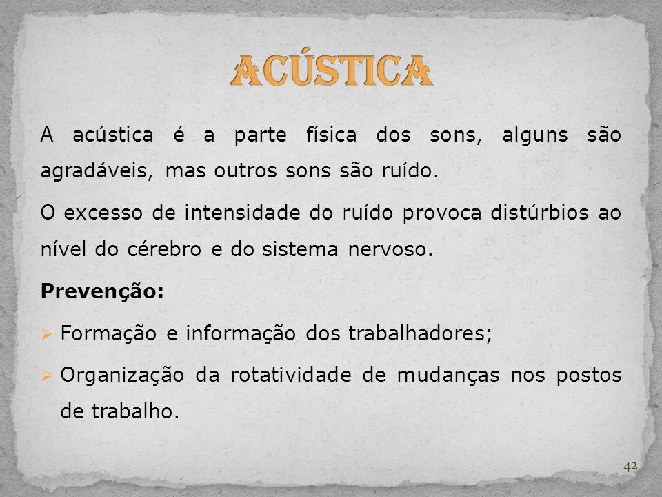 Acústica A acústica é a parte física dos sons, alguns são agradáveis, mas outros sons são ruído.