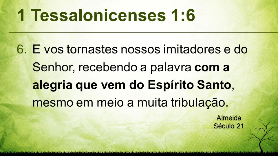 1 Tessalonicenses 1:6
