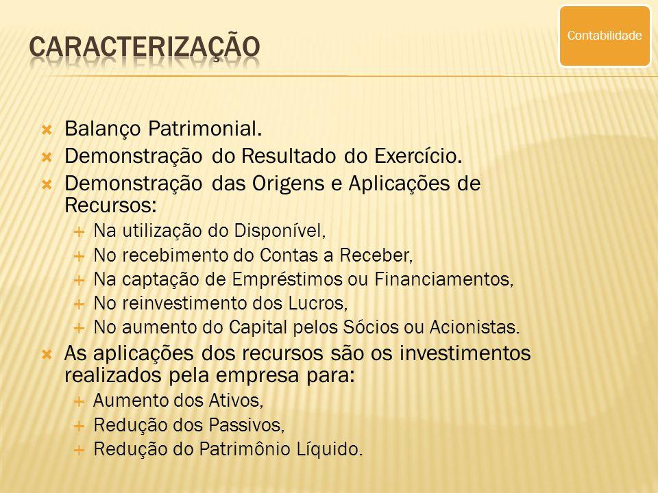Caracterização Balanço Patrimonial.