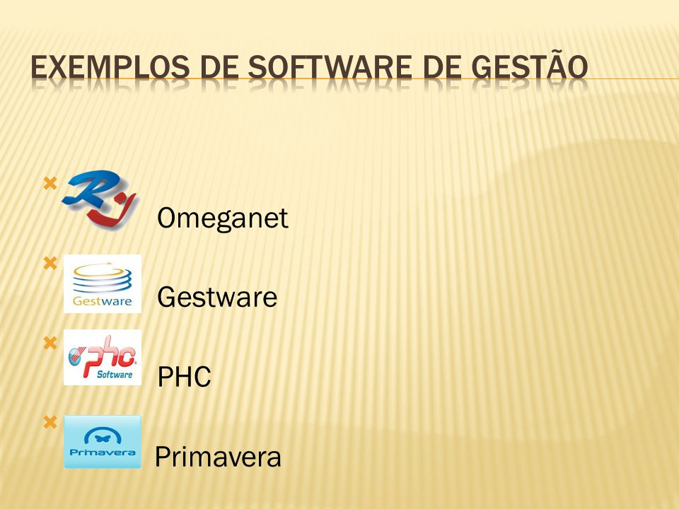 Exemplos de software de gestão