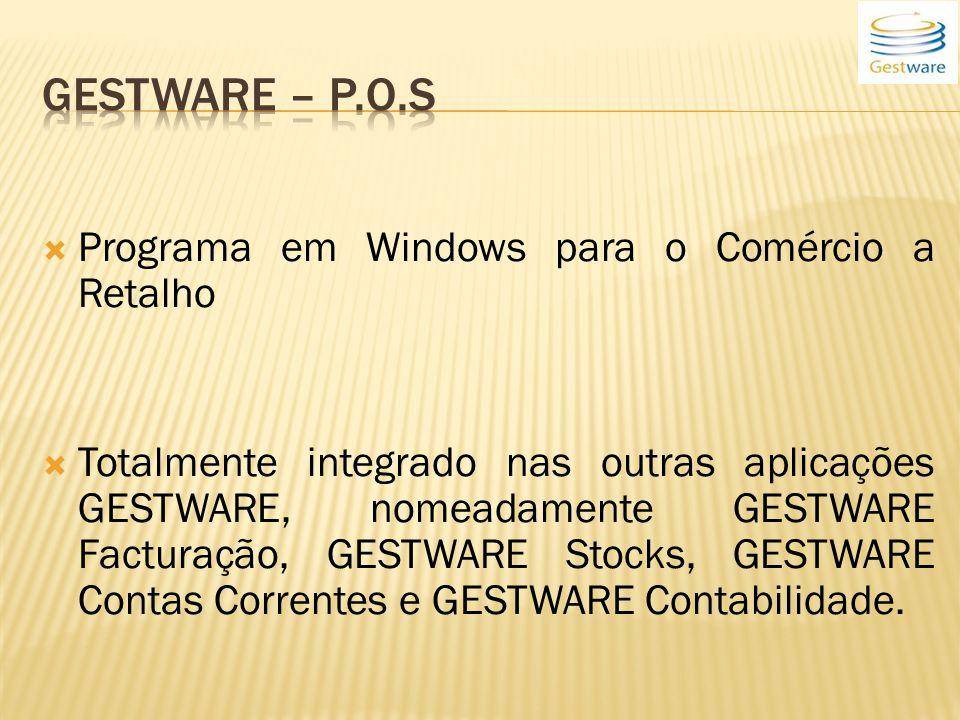 Gestware – P.o.s Programa em Windows para o Comércio a Retalho