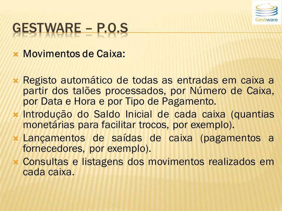 Gestware – P.o.s Movimentos de Caixa: