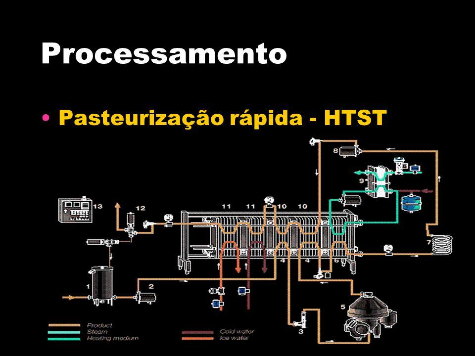Processamento Pasteurização rápida - HTST