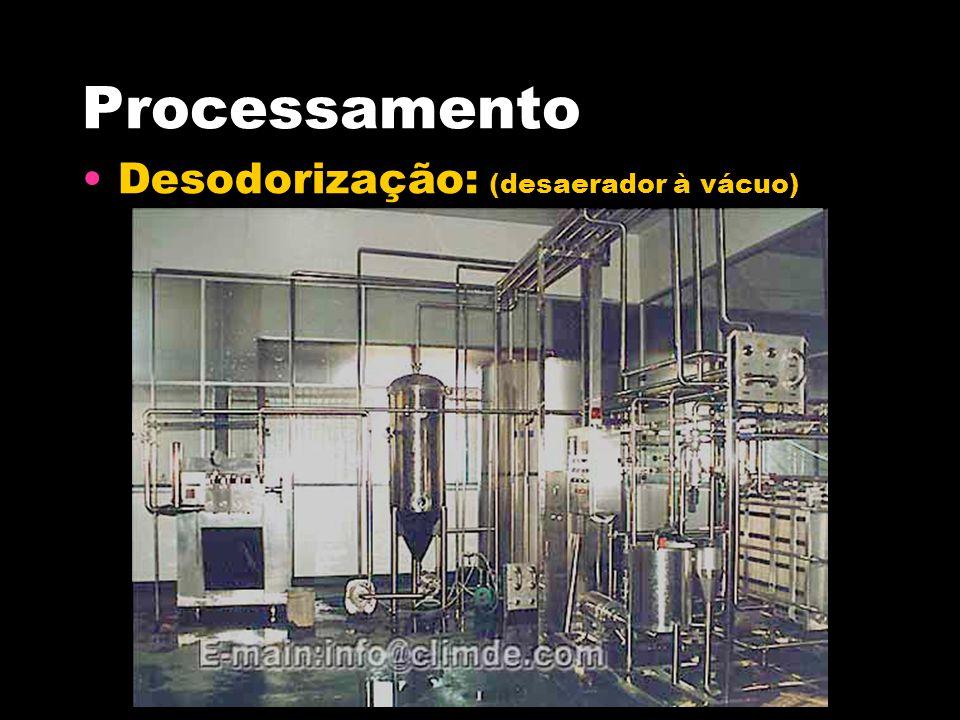 Processamento Desodorização: (desaerador à vácuo)