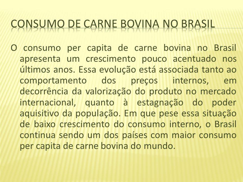 Consumo de carne bovina no Brasil