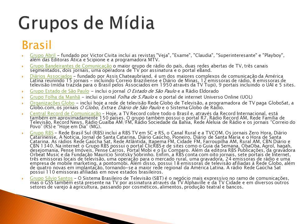 Grupos de Mídia Brasil.
