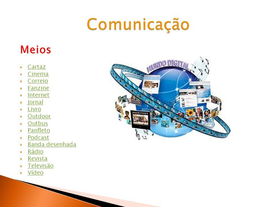 Comunicação Meios Cartaz Cinema Correio Fanzine Internet Jornal Livro