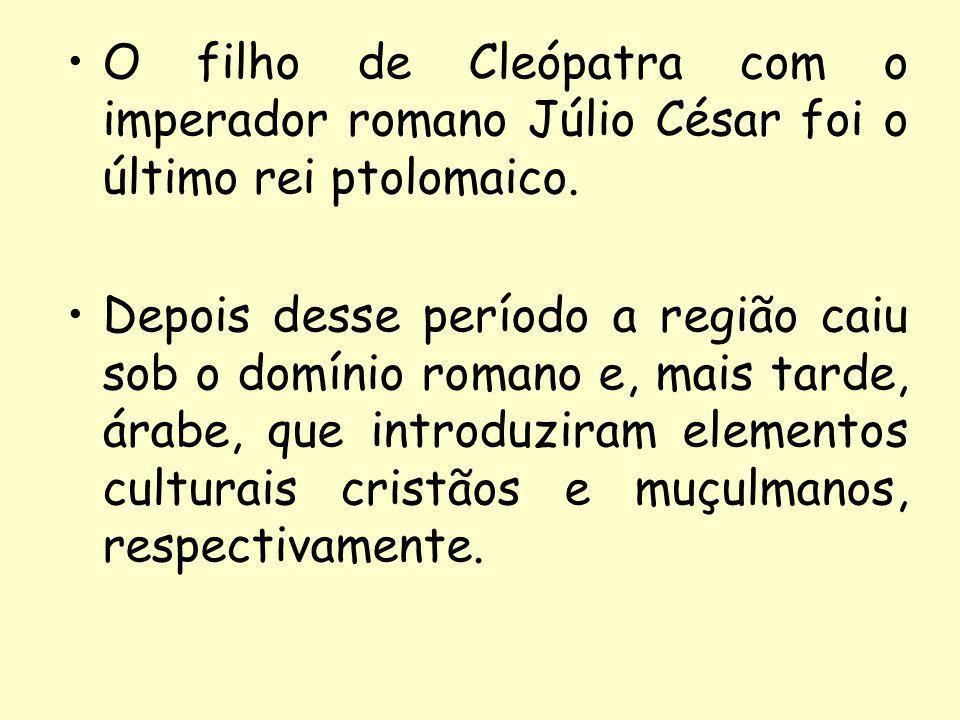 O filho de Cleópatra com o imperador romano Júlio César foi o último rei ptolomaico.