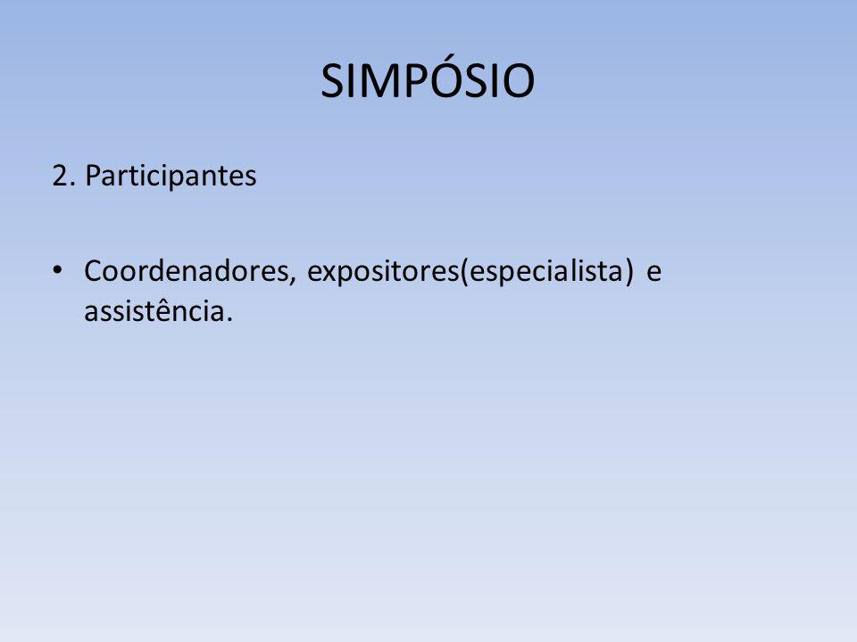 SIMPÓSIO 2. Participantes