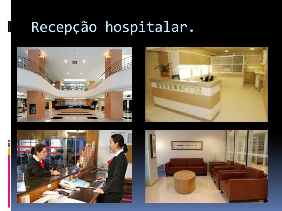 Recepção hospitalar.