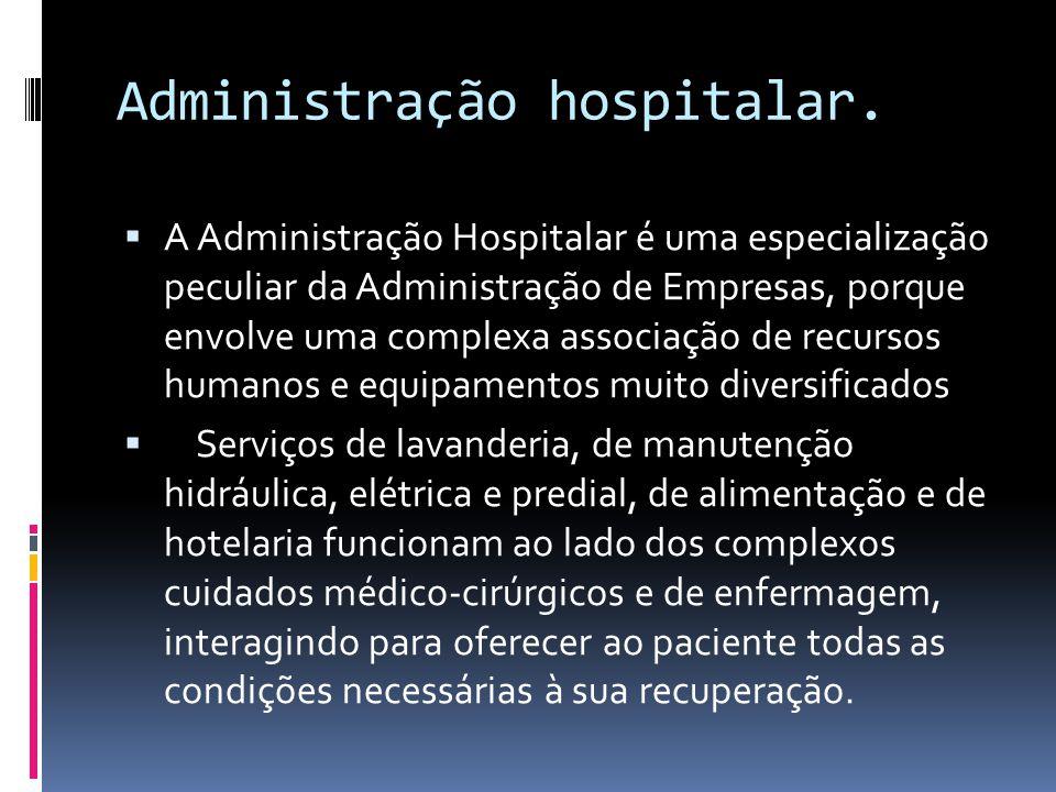 Administração hospitalar.