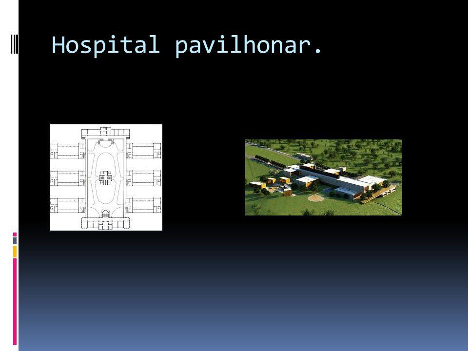Hospital pavilhonar.
