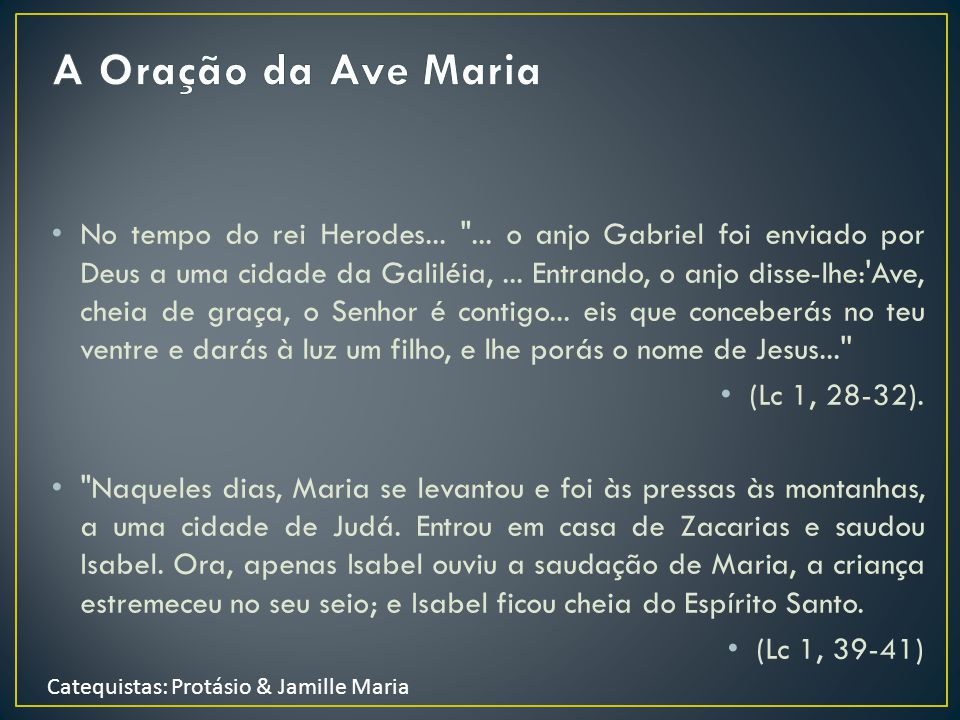 A Oração da Ave Maria