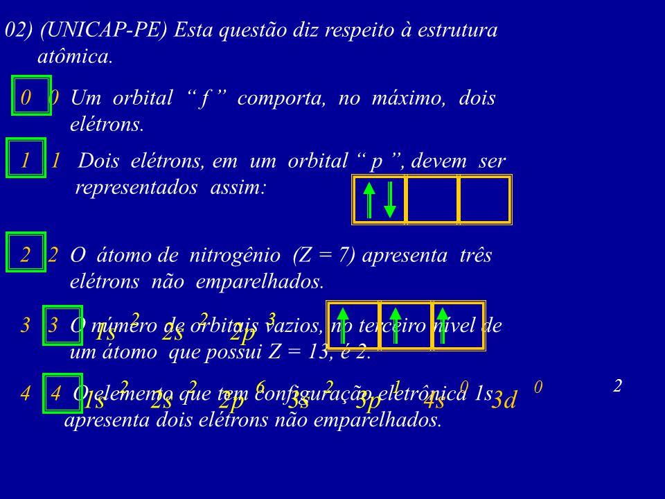 02) (UNICAP-PE) Esta questão diz respeito à estrutura