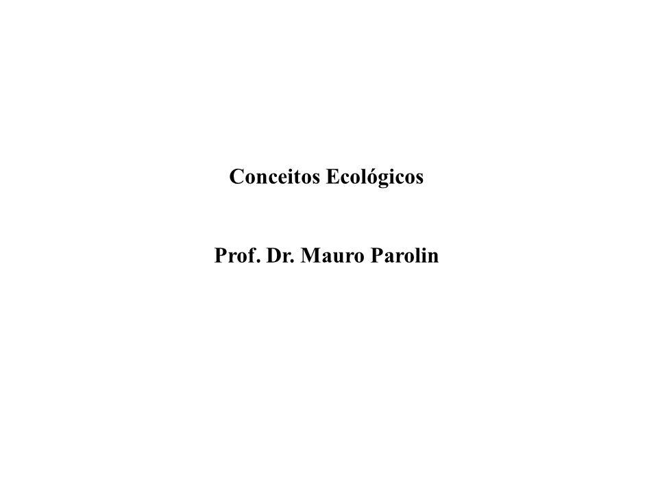 Conceitos Ecológicos Prof. Dr. Mauro Parolin
