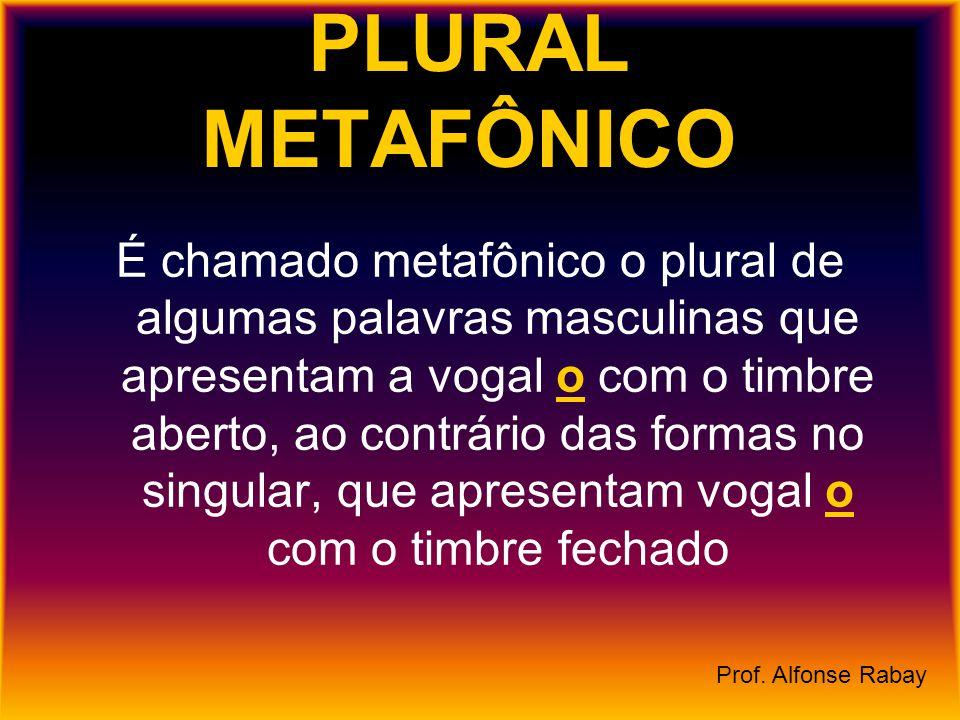 PLURAL METAFÔNICO