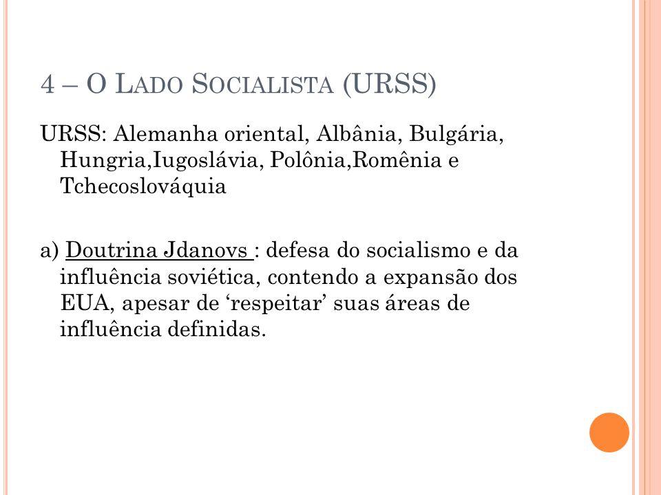 4 – O Lado Socialista (URSS)