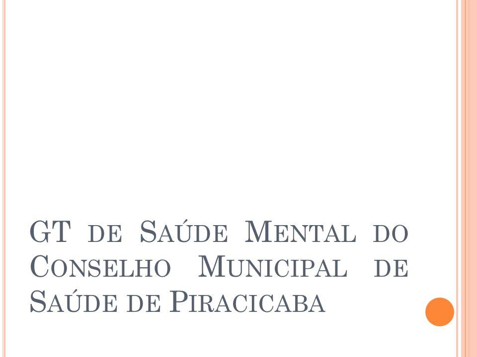 GT de Saúde Mental do Conselho Municipal de Saúde de Piracicaba