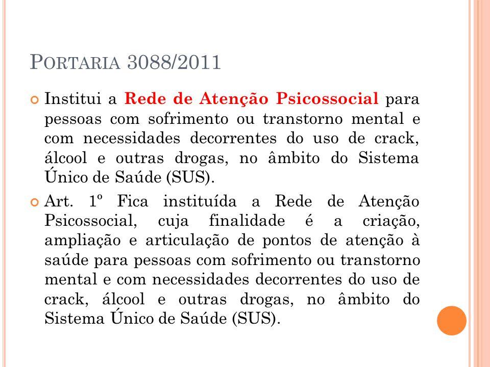 Portaria 3088/2011