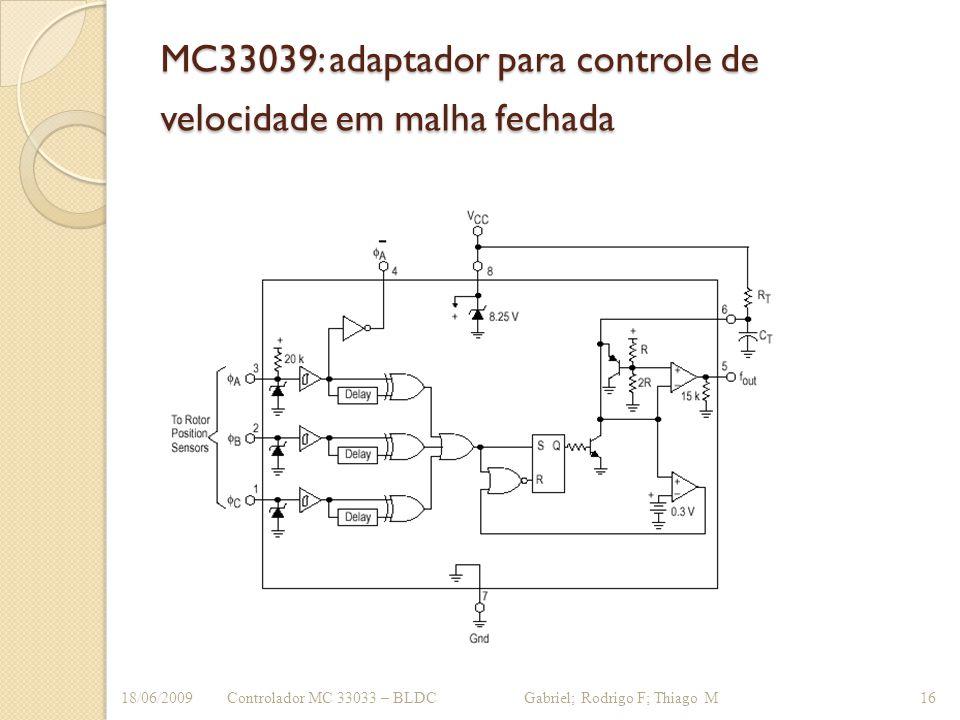 MC33039: adaptador para controle de velocidade em malha fechada