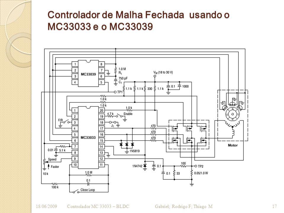 Controlador de Malha Fechada usando o MC33033 e o MC33039