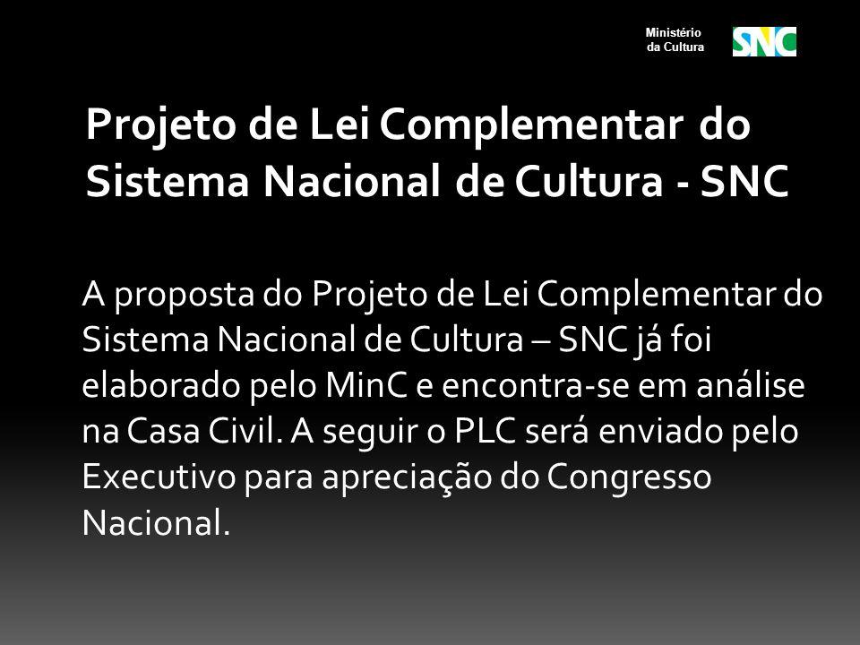 Projeto de Lei Complementar do Sistema Nacional de Cultura - SNC