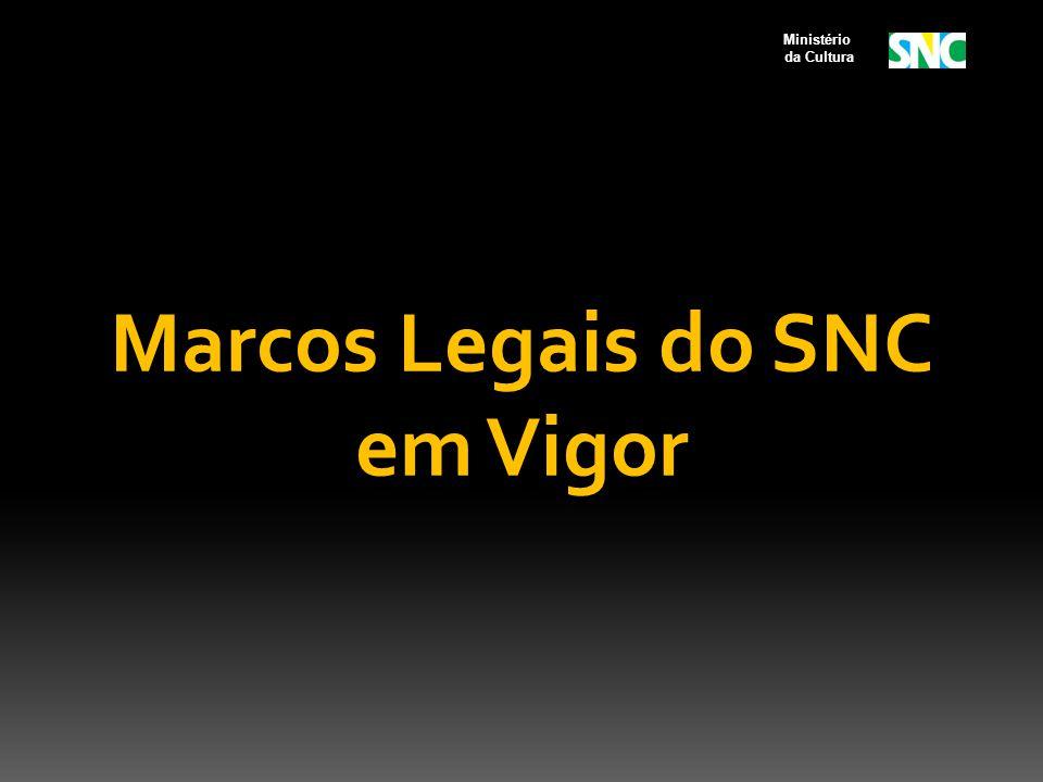Marcos Legais do SNC em Vigor