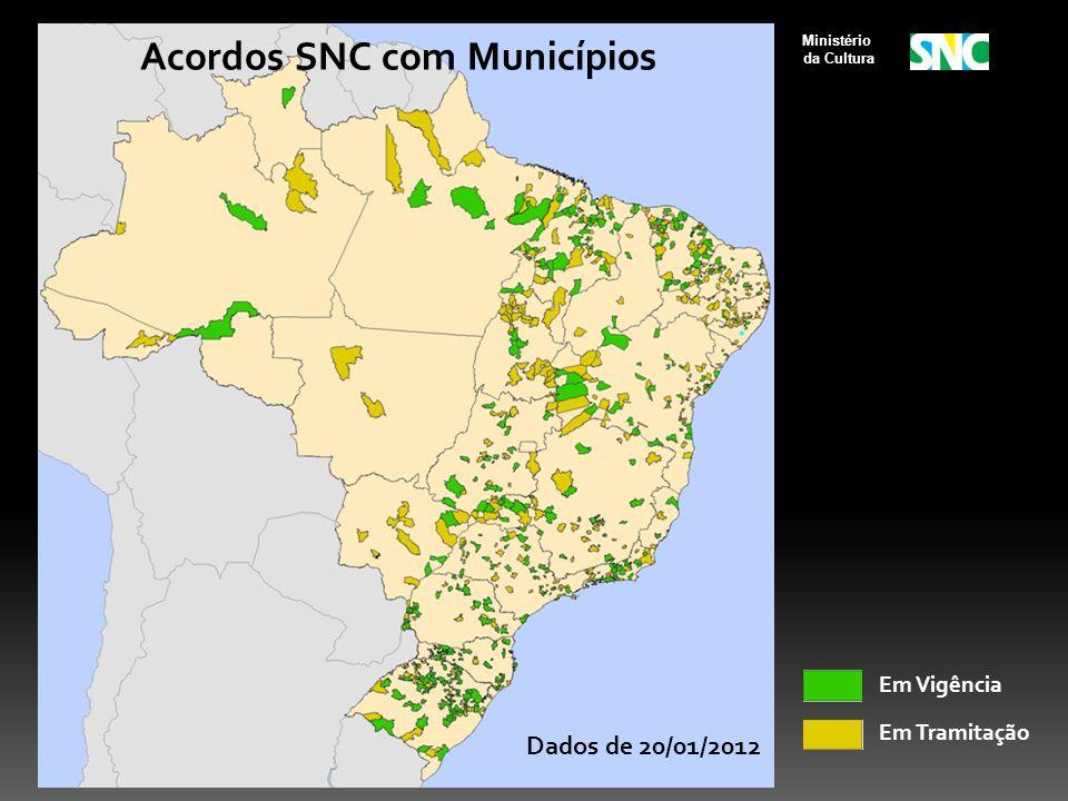 Acordos SNC com Municípios - 20/01/2012 Acordos SNC com Municípios