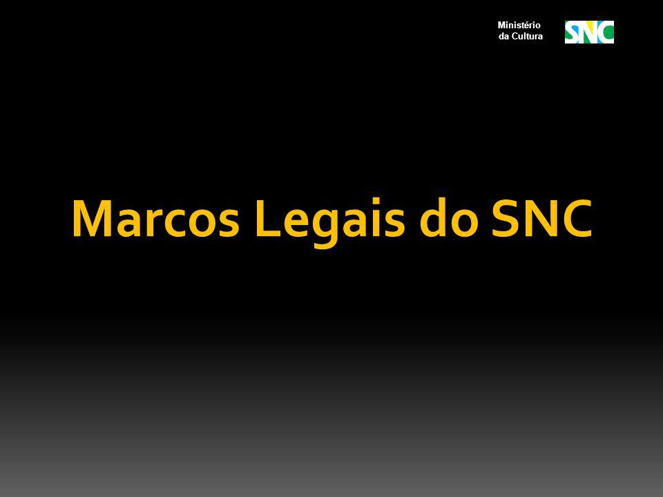 Ministério da Cultura Marcos Legais do SNC