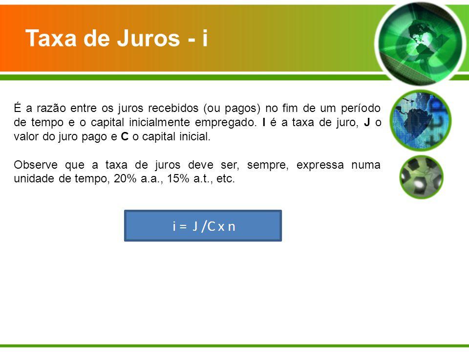 Taxa de Juros - i