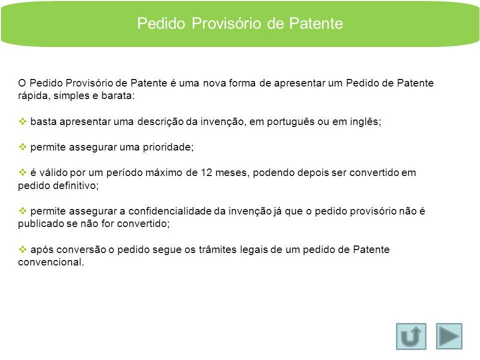 Pedido Provisório de Patente